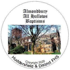 Almondbury, All Hallows, Baptisms CD