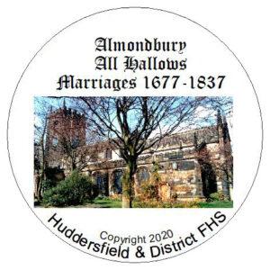 Almondbury, All Hallows, Marriages CD 1677-1837