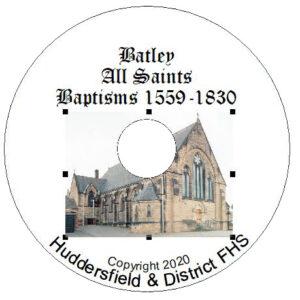 Batley, All Saints, Baptisms CD 1559-1830