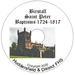 Birstall, St Peter Baptisms CD 1724-1817
