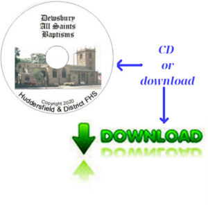 Dewsbury, All Saints, Baptisms CD's & Downloadable Files