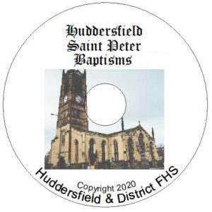 Huddersfield, St Peter, Baptisms CD's