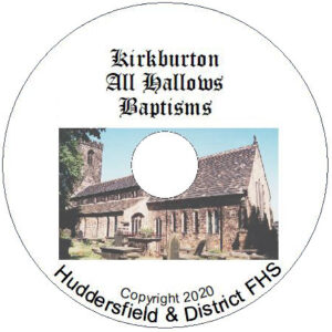 Kirkburton, All Hallows, Baptisms CD's