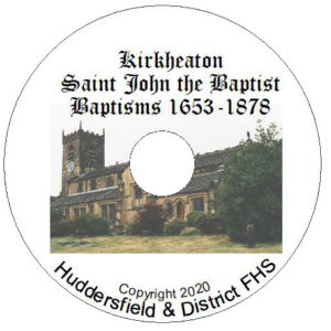 Kirkheaton, St John, Baptisms CD 1653-1878
