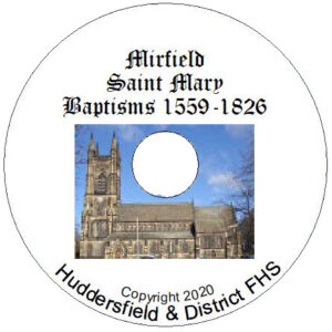 Mirfield, St Mary, Baptisms CD 1559-1826