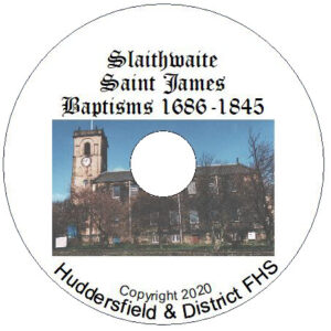 Slaithwaite St James, Baptisms 1686-1845