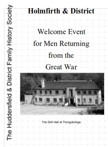 Welcome Event for Men Returning from the Great War