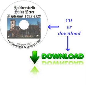 Huddersfield, St Peter, Baptisms CD's  & Downloadable Files