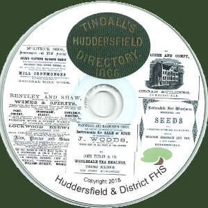 Tindall's Huddersfield Directory.  1866 (CD)
